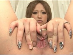 Little vibrator and big dildo fuck japanese pussy tubes at japanese.sgirls.net
