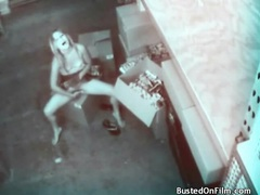 Slut in skirt masturbates on security camera movies at find-best-ass.com