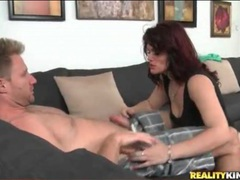 Cougar gets on her knees and sucks his cock lustily movies at kilopics.net