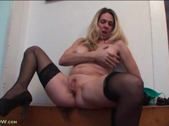 Beautiful big round fake tits on this sexy milf videos