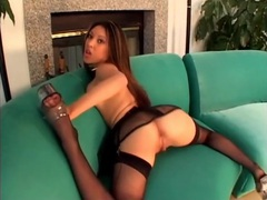 Nautica thorn is stunning in a black lingerie set tubes at find-best-asian.com