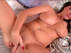Freckled girl masturbates and fingers bald pussy movies at sgirls.net