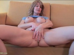Lana wilder models fake tits and masturbates solo videos