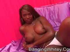 Black chick with fake titties sucks his dick videos