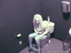 Bathroom camera captures girl masturbating on toilet movies at sgirls.net
