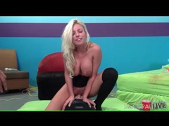 Busty britney amber rides sybian and moans videos