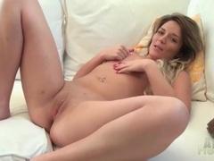 Solo nude cutie with tiny tits masturbates pussy videos