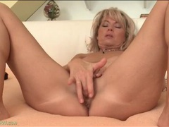 Pussy fingering and clit rubbing blonde milf movies at sgirls.net