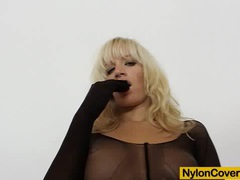 Wicked blonde distorted nylon mask face videos
