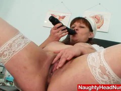 Big juggs aged wife wears practical nurse uniform and gets freaky movies at kilosex.com