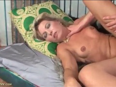 Big young dick fucks petite blonde mature videos