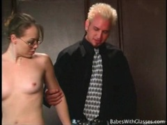 Skinny mariah cherry wears glasses for naughty play movies at find-best-mature.com
