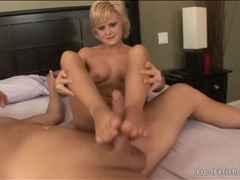 Foot fucking is sexy with a horny blonde girl movies at adipics.com