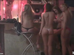 Nude girls smoking and drinking at a party videos