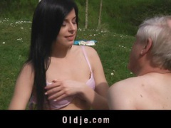 Young, sweet brunette banging old cock in a spring fuck movies at find-best-ass.com