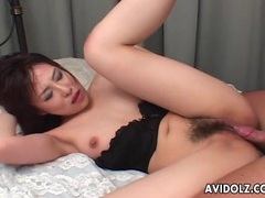 Soaking wet hairy cunt of japanese girl banged tubes at japanese.sgirls.net