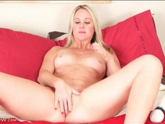Alina annelise strips from lingerie and masturbates videos