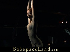 Restrained and whipped redhead slave begs for mercy movies