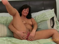 Solo brunette milf exposes her pink pussy movies at sgirls.net