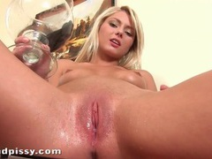 Blonde pees in a bowl and pours it on her tits movies at find-best-mature.com
