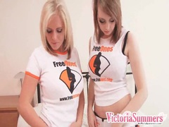 Big tits girls strip naked and grope their tits videos