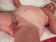 Dildo arouses granny for hot young guy sex videos