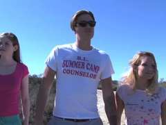 Cali is on a hike with camp counselor bradley when they walk up on a nice picnic spot videos
