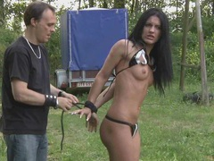 Ruthles treatment pulling hair and spanking in bdsm movies