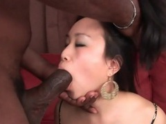 Asian mouth opens to suck big black cock tubes at korean.sgirls.net