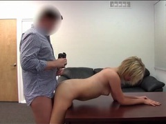 Chubby guy fucks cute blonde on casting couch movies at nastyadult.info