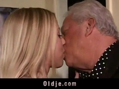 Old perverts seduced by horny blonde movies at sgirls.net