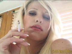Nikita valentin smokes cigarettes in lingerie videos