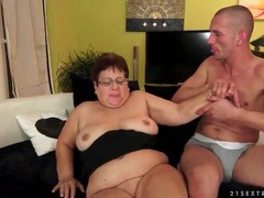 Chubby mature in glasses sucks a dick videos