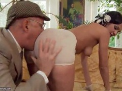 Slut sucks old man dick and gets a rimjob movies at kilotop.com