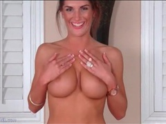 Tight top and short skirt on big tits brunette movies at kilopills.com