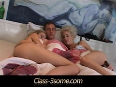 Horny beauties riding cock in a morning threesome movies at kilopics.net