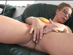 Naked mature with painted tits fingers her hole movies at lingerie-mania.com