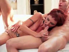 Horny milf redhead rides that hard dick videos