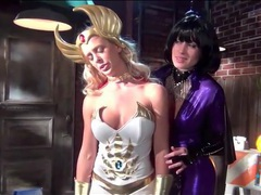Costumed babes in lesbian femdom porn videos