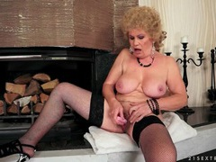 Granny masturbates hairy cunt with toys movies at adipics.com
