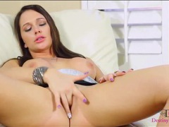 Sultry finger fucking with pornstar destiny dixon movies at freekiloclips.com