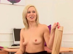 Cute blonde milf anna joy fingers her pussy videos