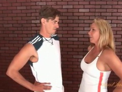 Busty tennis milf blows her trainer videos