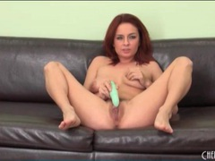 Pussy vibrating and fucking with sexy redhead movies at kilotop.com