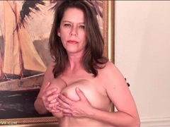 Milf jane russell fondles her big natural tits videos