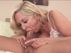 Wrinkled mature in pink satin lingerie sucks dick movies at freekiloporn.com