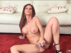 Solo syren de mer sucks dildo and masturbates clip