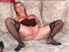 Solo beauty dressed in lingerie masturbates videos