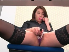 Horny secretary masturbates hot pussy at work tubes at japanese.sgirls.net