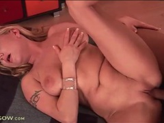 Blonde milf moans and jiggles in hardcore video videos